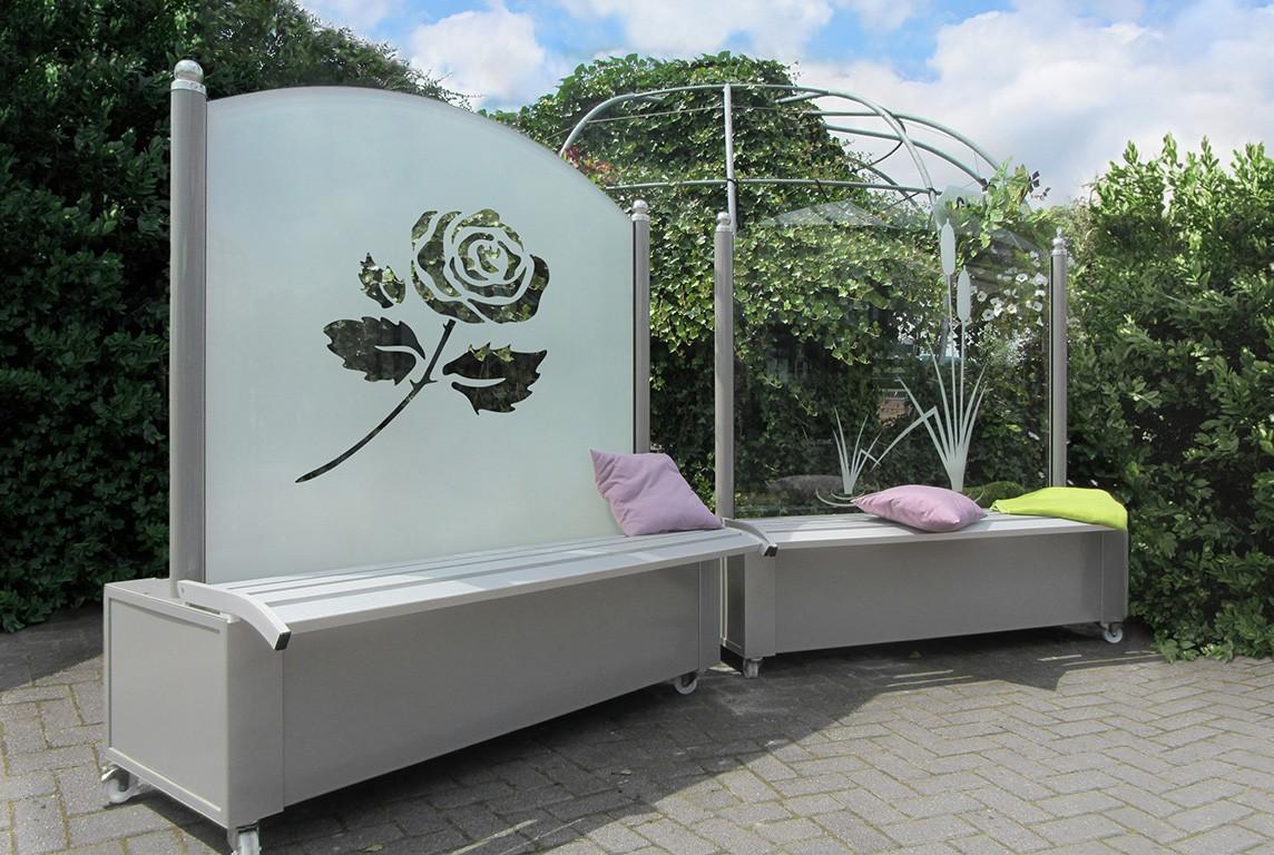 Ideen Fur Die Moderne Gartengestaltung Mit Sicht Und Windschutzelemen