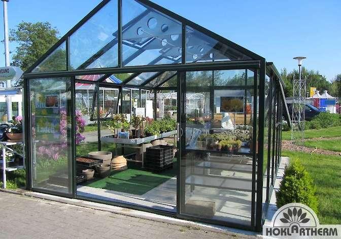 bio varis freistehendes gew chshaus in vielen l ngen breiten kaufen. Black Bedroom Furniture Sets. Home Design Ideas
